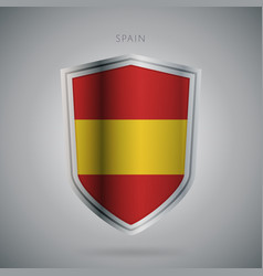 Europe flags series spain modern icon vector