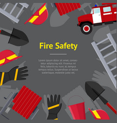 Firefighter profession equipment and tools concept vector