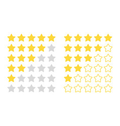 five star rating modern rated objects vector image