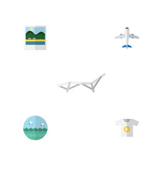 flat icon season set of reminders clothes ocean vector image