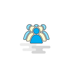 Flat police avatar icon vector