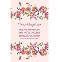 floral watercolor border vector image
