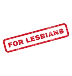 For Lesbians Text Rubber Stamp vector