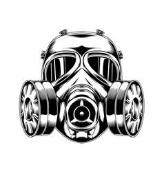 Gas mask 04 tactical military vector