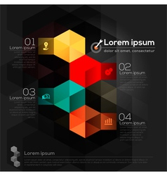 Geometric shape abstract design layout vector