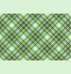 green ireland check plaid fabric seamless pattern vector image