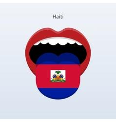 Haiti language Abstract human tongue vector