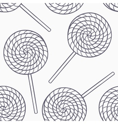 Hand drawn candies outline seamless pattern vector
