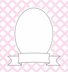 Hand drawn decorative photo frame on pastel pink vector
