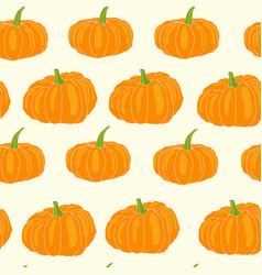 hand drawn orange pumpkin seamless pattern vector image