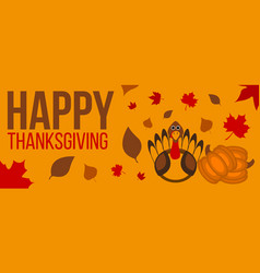 happy thanksgiving day label vector image