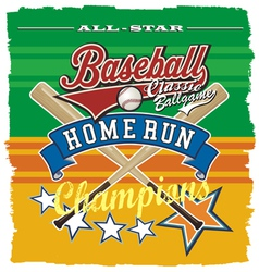 homerun baseball champ vector image