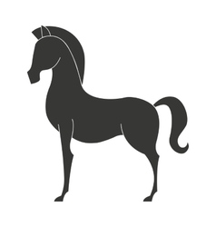 horse animal equine icon vector image