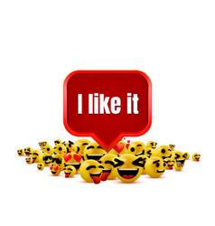 I like it emoji group yellow winking face funny vector