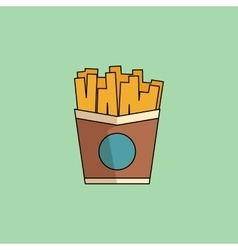 Icon French Fries in minimalist style vector image