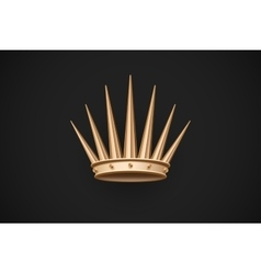 Icon of old royal crown on a dark black background vector image