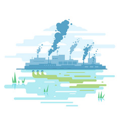 Industrial pollution nature vector