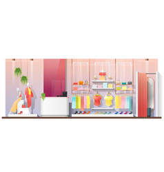 interior scene of modern women clothing store vector image