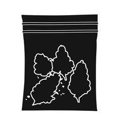 Isolated object marijuana and bag symbol web vector