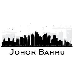 Johor bahru malaysia city skyline black and white vector