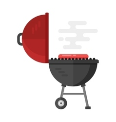 Kettle barbecue grill vector