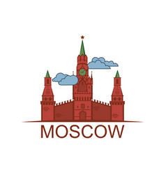 Kremlin tower icon vector