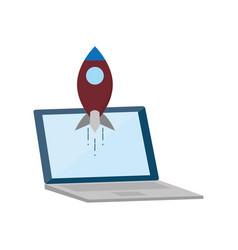 laptop tech device vector image