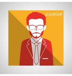 Leadership business entrepreneur design vector image