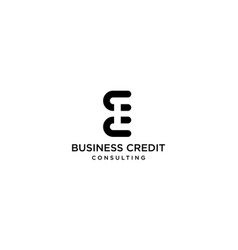 Letter c b and c logo design concept vector