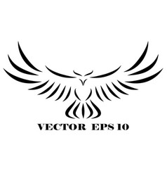 logo hawk that is flying eps 10 vector image