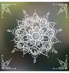 Mandala flower on blured background vector