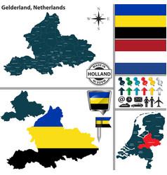 map of gelderland netherlands vector image