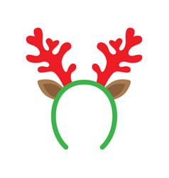 Mask with reindeer antler vector