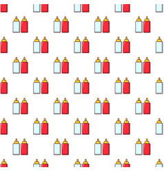 Mustard ketchup bottle pattern seamless vector