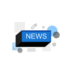 news abstract speech bubble box label vector image