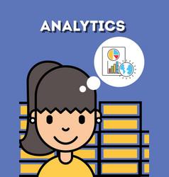 People analytics business vector