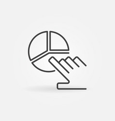 pie chart with hand outline concept icon vector image