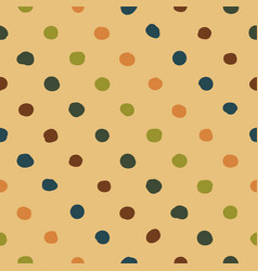 polka dots seamless pattern colorful vector image
