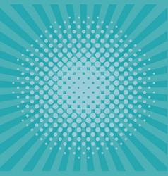 Pop art blue background vector
