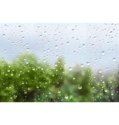 Raindrops On Window Glass vector