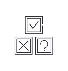 Rebus line icon concept rebus linear vector
