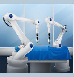 robotic arm composition vector image