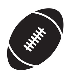 Rugby ball icon on white background rugby ball vector