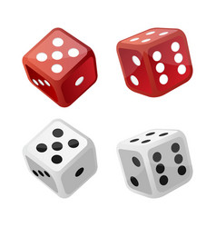 Set casino dice vector