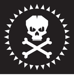 Skull - original graphic logo vector image