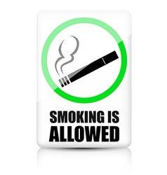 Smoking allowed sign vector image