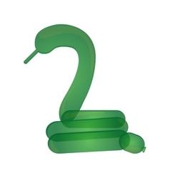 Snake balloon figure icon vector