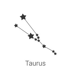 taurus sign constellation isolated icon on vector image