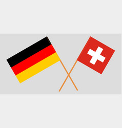the crossed germany and switzerland flags vector image