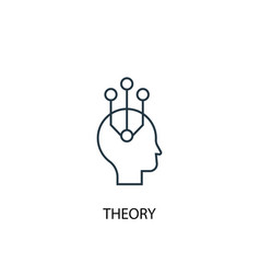 Theory concept line icon simple element vector